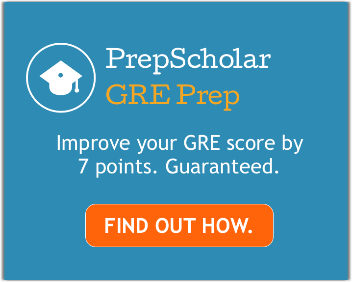PrepScholar GRE - Score Improvement Guarantee