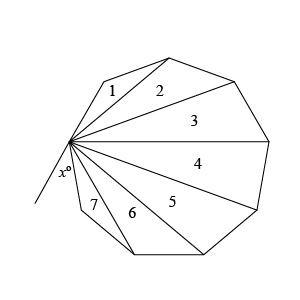 The Figure Above Shows A Regular 9 Sided Polygon What Is The Value